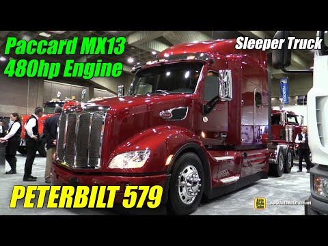 2016 Peterbilt 579 Truck with Paccar MX 13 480hp Engine - Exterior, Interior Walkaround-2015 Expocam