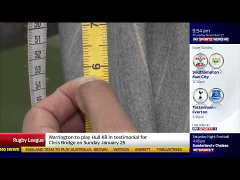 Apsley Tailors West Ham Suit fitting 2014 - from Sky Sports News