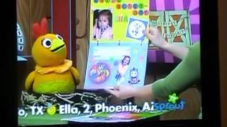 RJ's 3rd birthday card being aired on Sprouts Sunny Side Up Show - 2nd year in a row !!