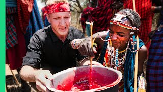 SHOCKING Tribal Food in Kenya!!! Rarely Seen Food of the Maasai People!