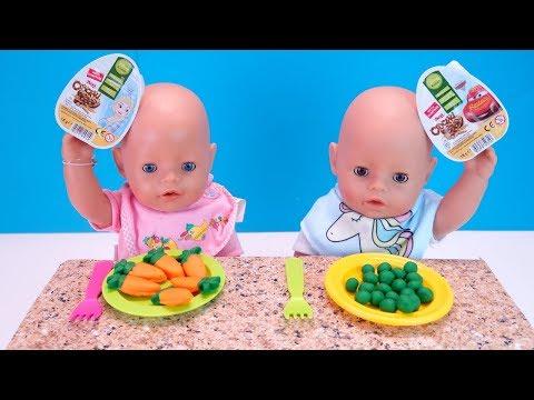 БЕБИ БОН Кушают Овощи и Открывают Сюрпризы Как Мама Кормила Куклы Мультик 108мама тиви