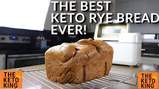 The BEST Keto Bread EVER - Keto Rye! | Keto yeast bread | Low Carb Bread | Bread Machine Recipe