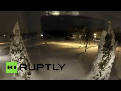Snowmageddon timelapse: Jonas 'Snowzilla' storm hits US town