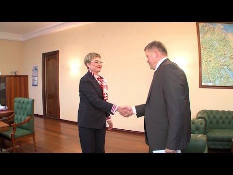 Рабочая встреча губернатора Марины Ковтун и Юрия Кузина