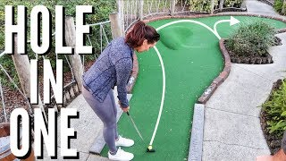 Kelsey's Epic Hole In One | Brodie & Kelsey vs. GM Golf & Zac | Pirate's Cove Mini Golf Back 9