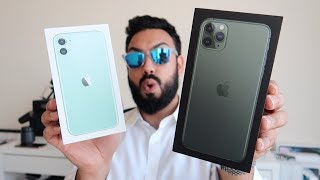 iPhone 11 and 11 Pro Max UNBOXING and FIRST LOOK