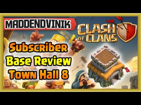 Clash of Clans - Subscriber Base Review #5 Town Hall 8 (♛ Hyper City Push ♛)