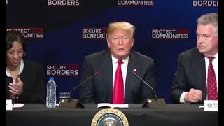 Trump Speaks At Immigration Roundtable Event