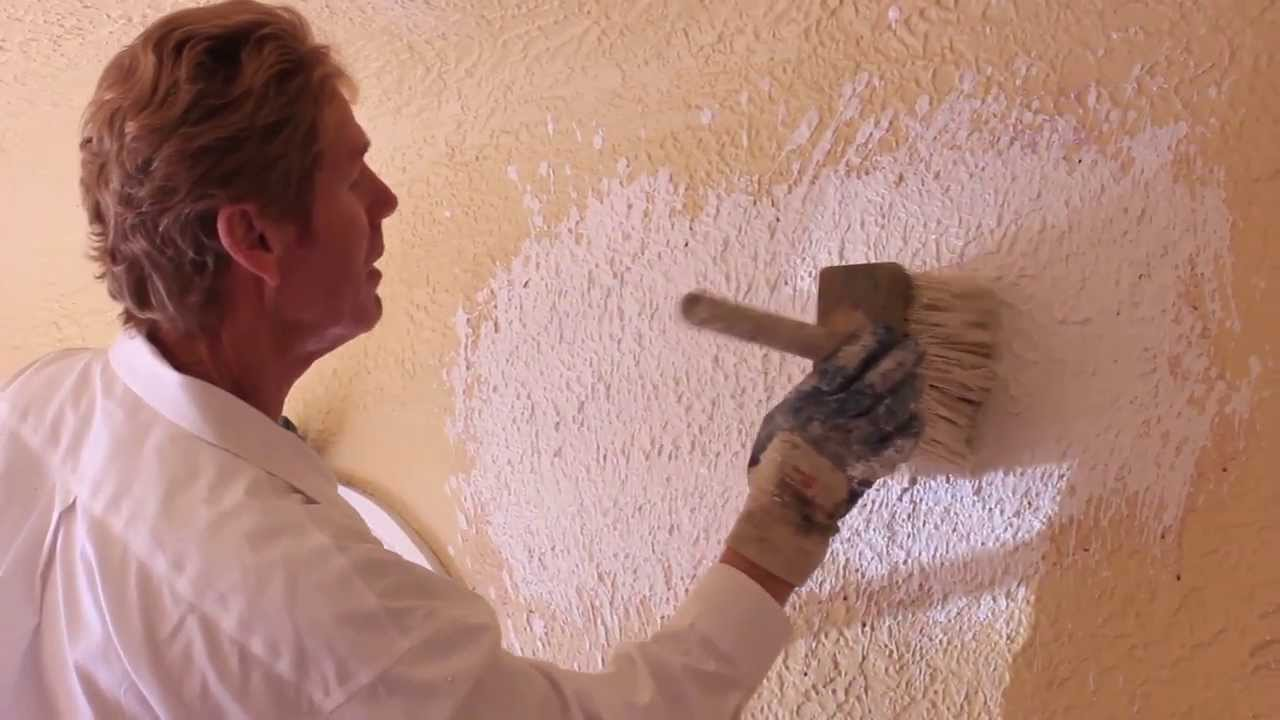 Interior plastering using dash brush Awesome plastering