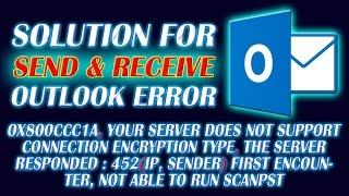 Outlook Send and Received Error | Solution