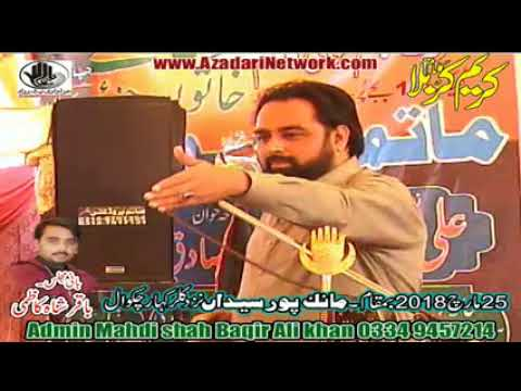 Allama Hamid Sultani || Majlis 25 March 2018 Manak Pur ||