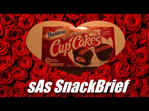 sAs SnackBrief: Hostess Dark Chocolate Raspeberry Cupcake Review