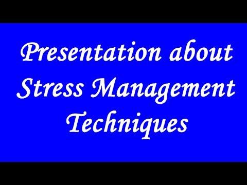 Stress management techniques ppt gonzalez