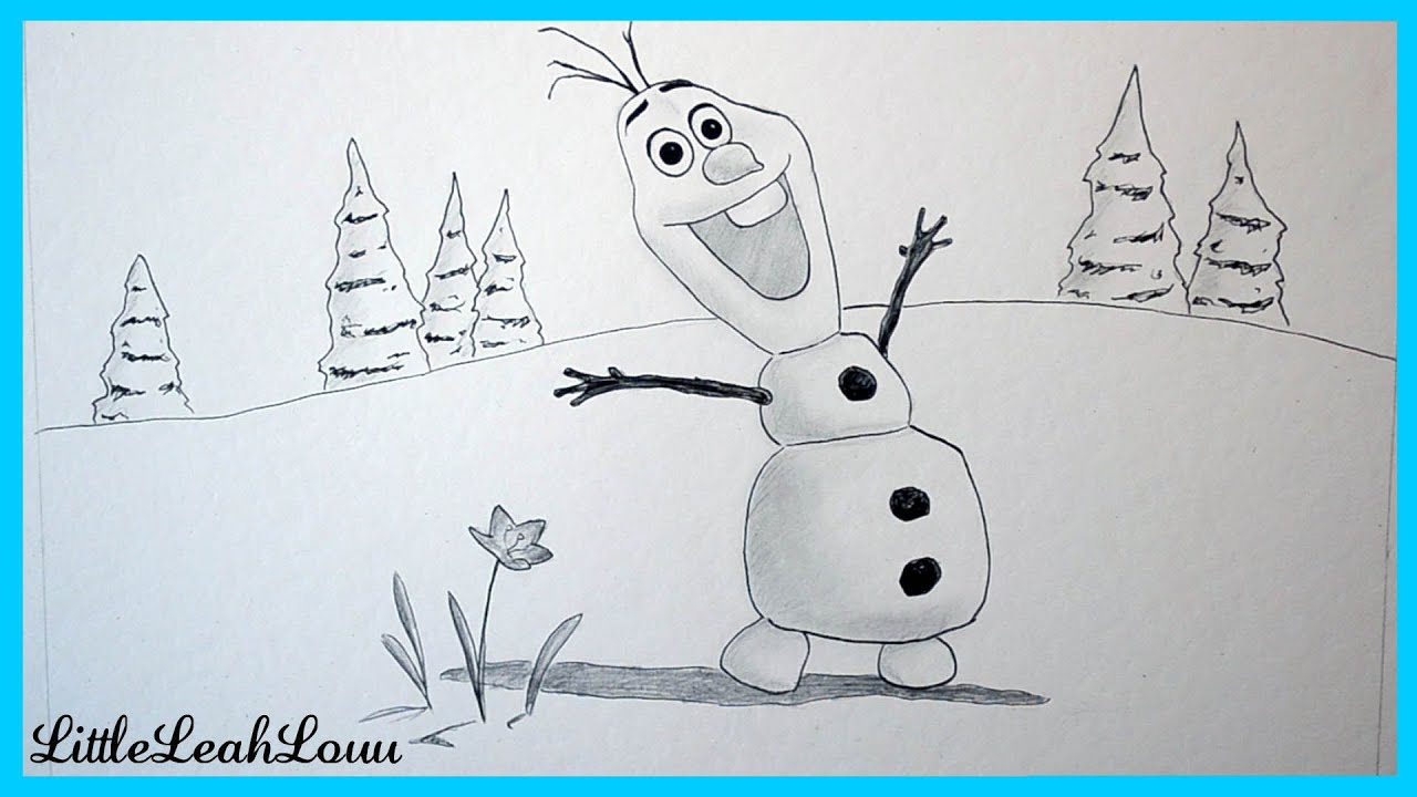 Drawing Olaf from Frozen! - YouTube