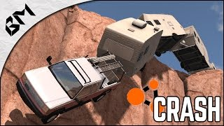 BeamNG Drive - CARAVAN CRASH - F1 Destruction - Crash Test