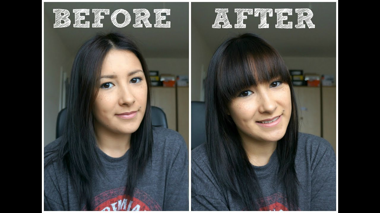 How To Cut Your Own Full FringeBangs YouTube
