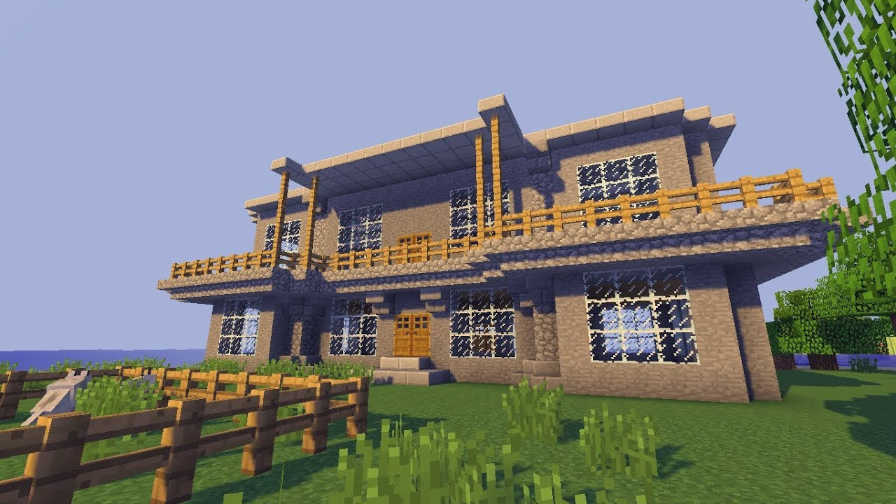 Minecraft Villa Bauen Tut Youtube