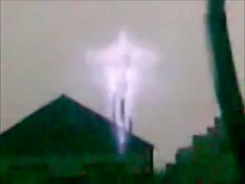 Jesus Christ On The Cross Shown In The Sky Somewhere In Russia.