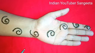 Unique Easy Arabic Mehndi Design For Hands || Henna Design || New Mehndi Design