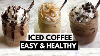 Iced coffee Recipe Easy + Healthy | Low Calorie Iced Coffee | LadyBoss Lean Recipes