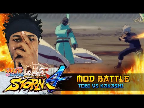 War Tobi VS Kakashi Hatake!!! Naruto Shippuden Ultimate Ninja Storm 4 Mod Battle!!! thumbnail