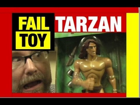EPIC FAIL Rad Repeatin Tarzan Funny Video by Mike Mozart JeepersMedia With Saw Puppet