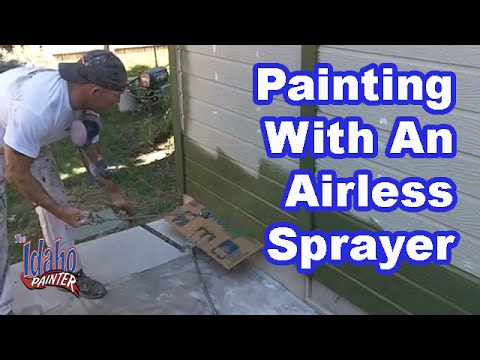 How to spray your house with an airless sprayer