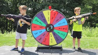 Nerf War :  The Mystery Wheel Showdown (Twin Toys)