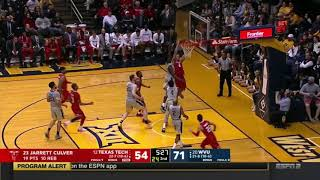 Niem Stevenson Texas Tech Men's Basketball 2017-2018