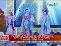 Pambato Ng Pilipinas Sa Miss Earth 2018, Wagi Ng Bronze Medal Sa National Costume Competition