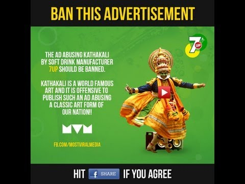 7up Kathakali New Ad Should Be Banned-facebook Friends video