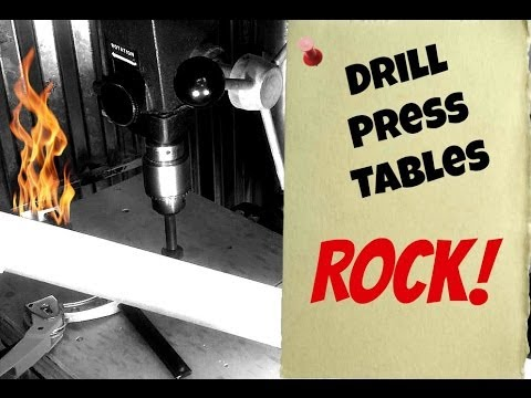 Why I Use A Drill Press Table.