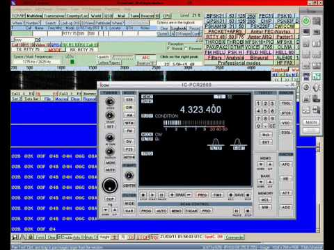 HF RTTY 4323.4Khz CW
