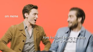 tom holland being a dork for 3 minutes straight