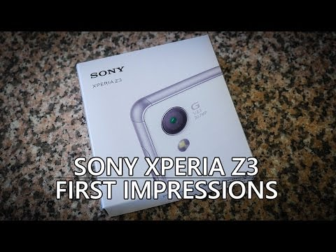 Sony Xperia Z3 Unboxing and First Impressions