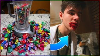 EATING 1000 WARHEADS CHALLENGE GOES WRONG... | David Vlas