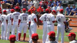 Texas Rangers player introductions Opening Day 2013 4/5/13
