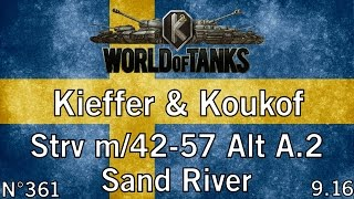 World of Tanks - 9.16 - Strv m/42-57 Alt A.2 - Sand River - HD