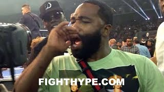 ADRIEN BRONER SECONDS AFTER ERROL SPENCE KNOCKS OUT OCAMPO; SAYS THEY WILL PARTY TOGETHER