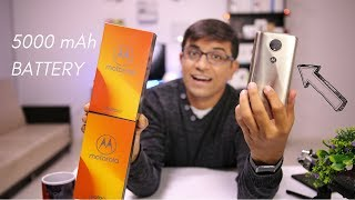 Moto E5 Plus Unboxing - Smartphone with 5000 mAh Battery! (HINDI)