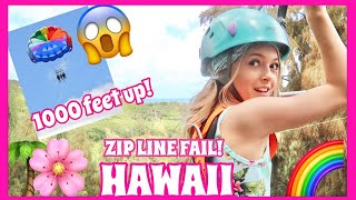 ZIP LINE FAIL |  HAWAII TRAVEL VLOG | Oahu | Coco Quinn
