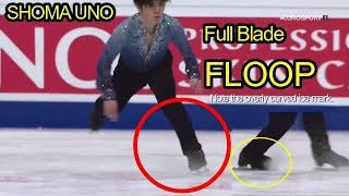 Shoma Uno - Quad Flip (Floop) Analysis (VS Nathan Chen