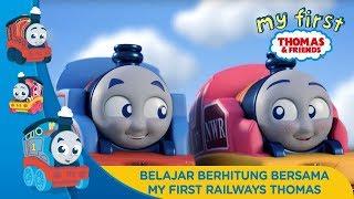 Thomas & Friends Bahasa Indonesia - Belajar berhitung bersama My First Railways Thomas