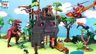 Playmobil The Explorers Hidden Temple with T-rex and Adventure with Pterodactyl Playsets - Dinosaurs