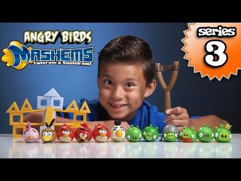 Angry Birds Mash'ems Series 3 - Orange Bird Mash'em & Pink Bird Mash'em video