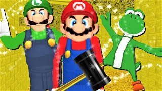 MARIO'S BASICS IN A SHINY GOLD MODE !! | Baldi's Basics MOD: Mario's Basics