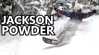 Jackson Hole Powder Snowboarding Day 1