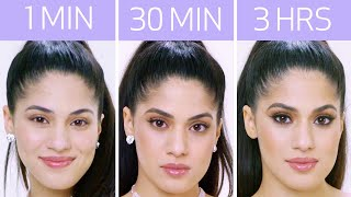 Getting Ariana Grande's Look in 1 Minute, 30 Minutes, and 3 Hours - Makeup Challenge | Allure