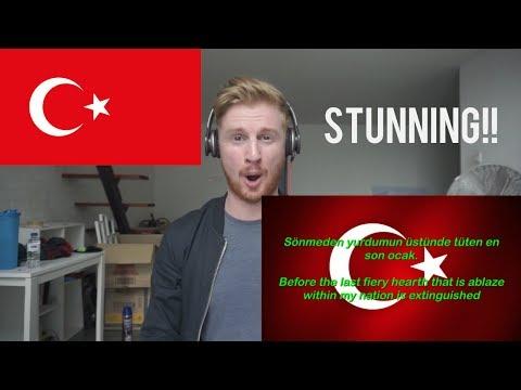 Istiklal Marsi - Turkey National Anthem  NATIONAL ANTHEM REACTION