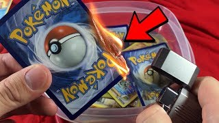 POKEMON FLIP IT OR TORCH IT! (ULTRA RARE BURNED..)